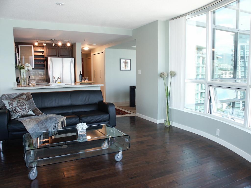Coal Harbour Condo Vancouver Peach Interior Design