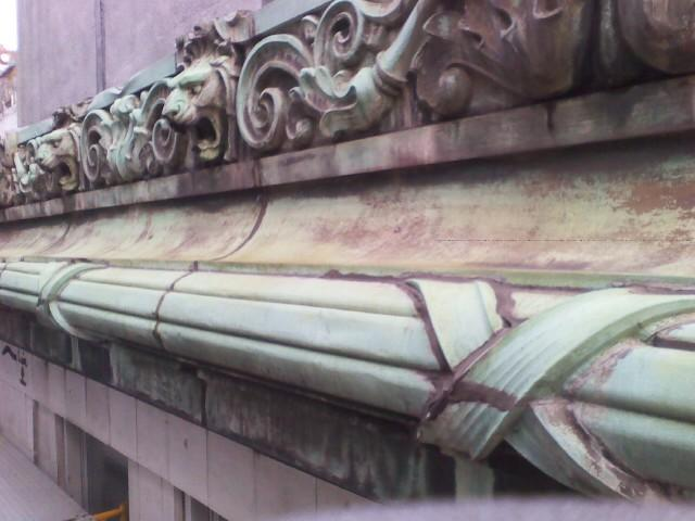 The copper Cornices architectural elements