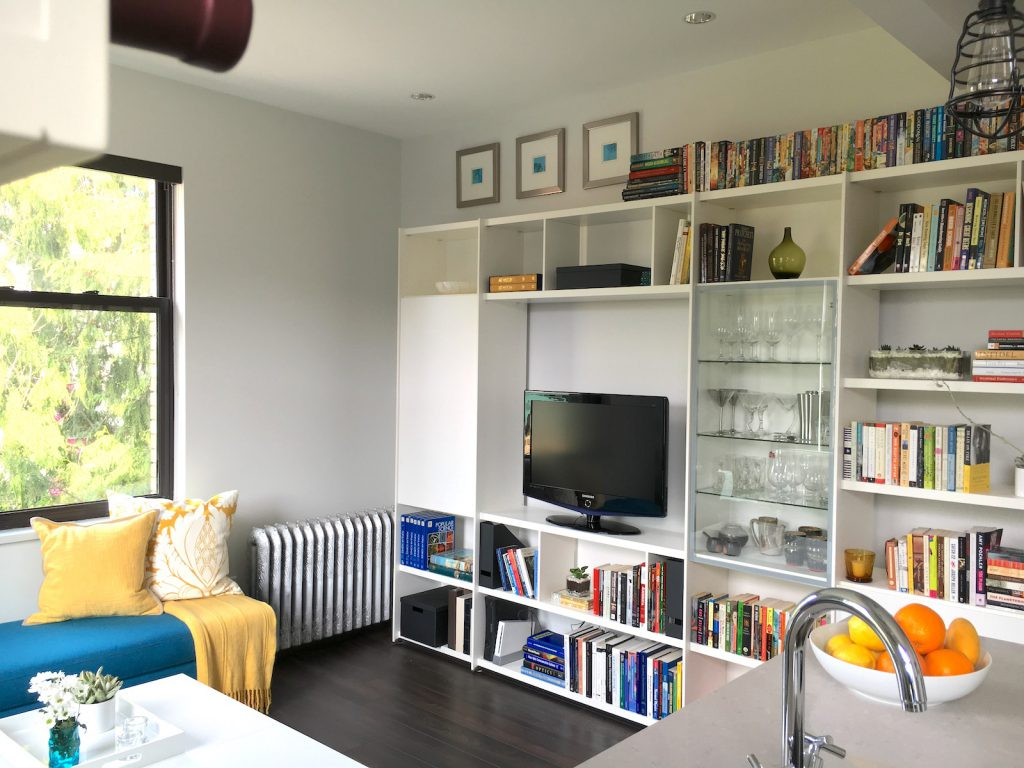 Small Spaces - Get Organized and Look Up! - Peach Interior Design