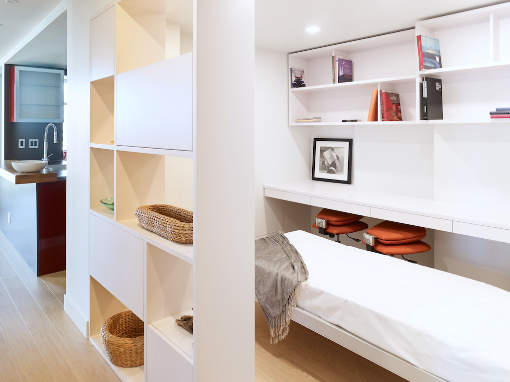 Turn your smallest room into a home office with a bed