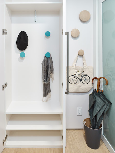 solution for kids clutter-renovation project Aquarius Mews, Vancouver