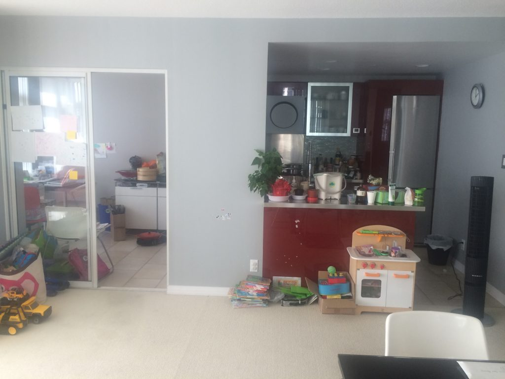 Before picture of the kitchen renovation