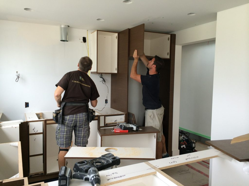 Cabinets have arrived and being installed