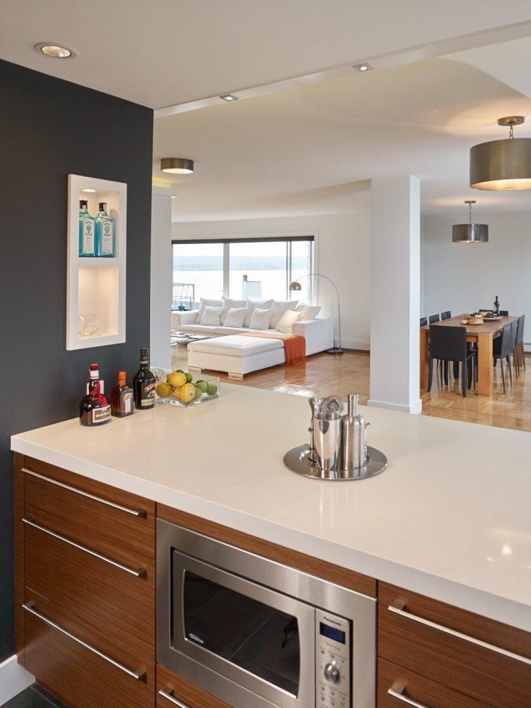 Open concept kitchen-Vancouver Westend Penthouse
